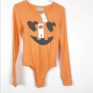 Wildfox Jack O' Heart Halloween Bodysuit